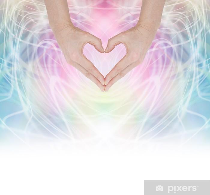 Papier peint vinyle Coeur de guérison de l'énergie - Santé et médecine