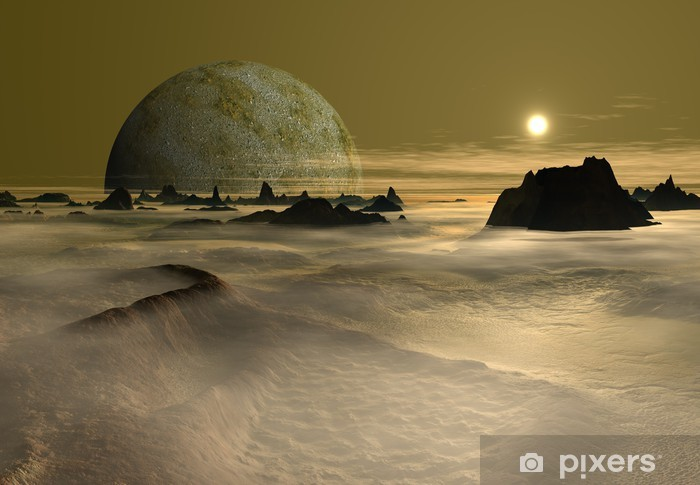 Fototapeta winylowa Futurystyczny Alien Planet - Przestrzeń kosmiczna