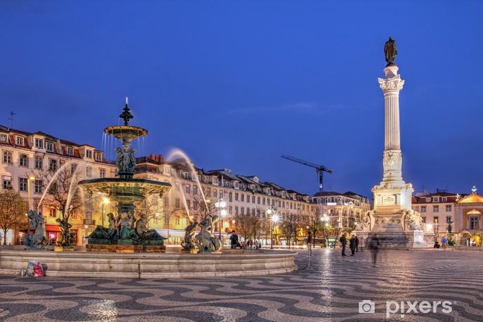 Çıkartması Pixerstick Rossio Meydanı, Lizbon, Portekiz - Avrupa kentleri