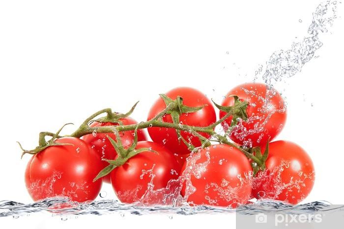 Sticker Pixerstick Grappe de tomates éclabousser - Thèmes