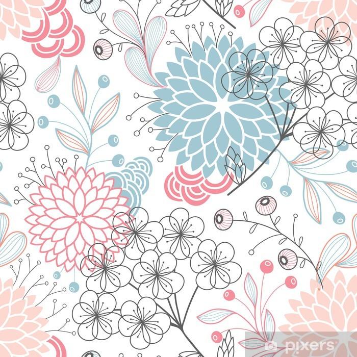 Fototapeta winylowa Powtarzalne kwiatowy wzór - Przeznaczenia