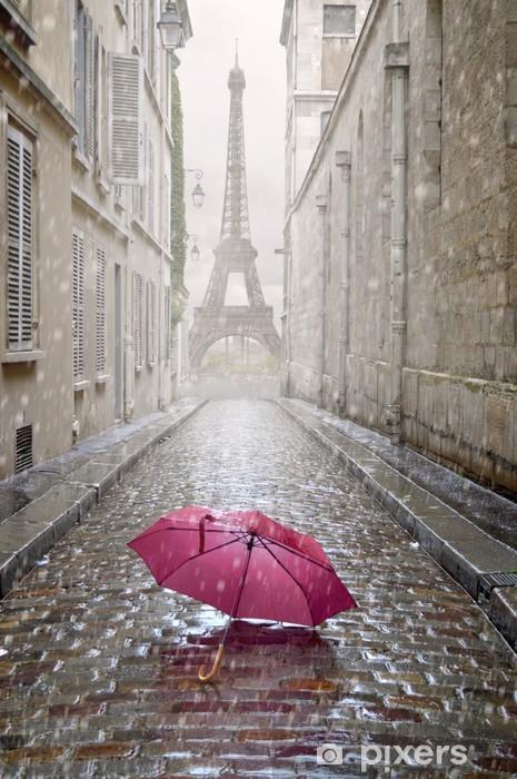 Papier peint vinyle Allée romantique sur un jour de pluie. - Thèmes