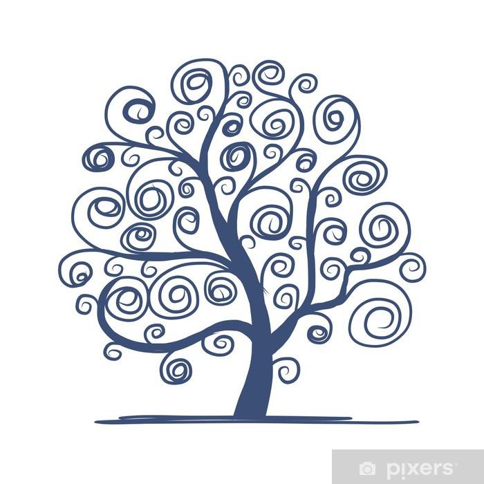 Plakát Umění strom krásné pro svůj design - Roční období