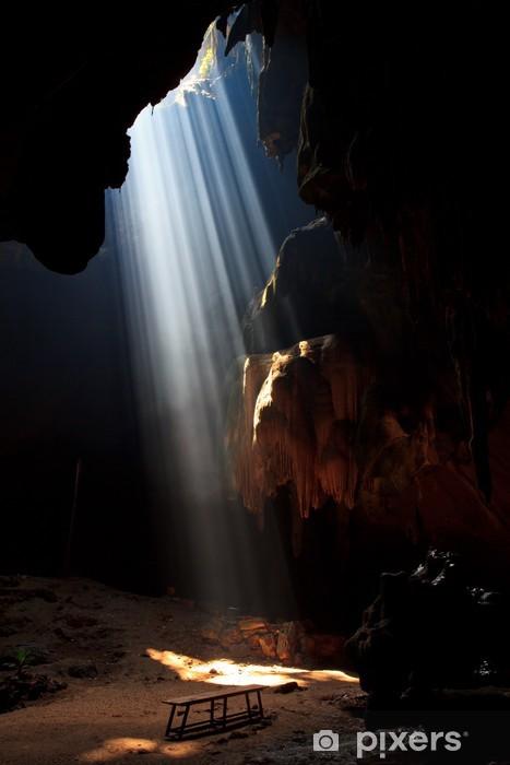 Papier peint vinyle Sunbeam dans la grotte dans le parc national, la Thaïlande - Asie