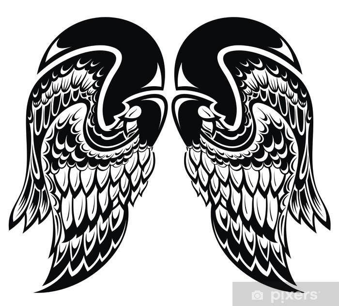 Fotobehang Vinyl Engel Wingstattoo Vleugels