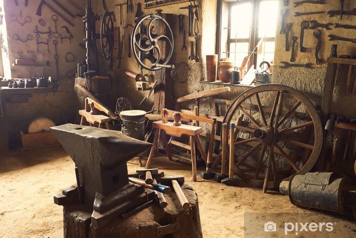 Fototapeta winylowa Stary warsztat - Budynki przemysłowe i handlowe