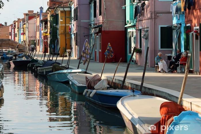 Fotomural Estándar Apacible y pesquero Colorido pueblo, Burano en Venecia - Vacaciones