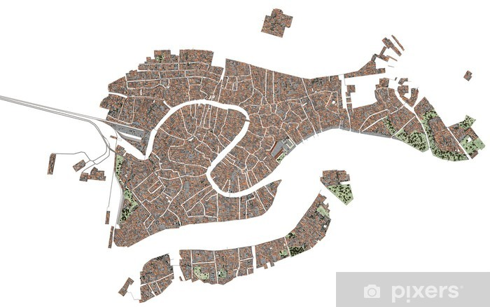 Cartina Hong Kong.Venezia Laguna 3d Mappa Cartina Serenissima Wall Mural Pixers We Live To Change