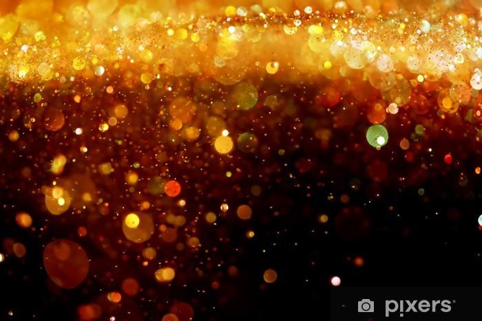 Gold glitter Vinyl Wall Mural - Abstract