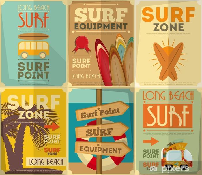 Fototapeta winylowa Kolekcja windsurfingu plakaty - Tematy