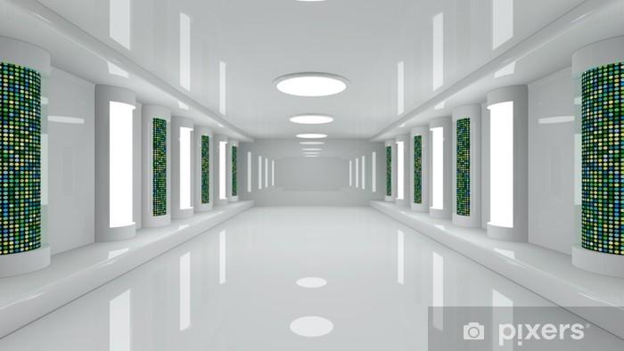 Futuristic corridor Vinyl Wall Mural - Infrastructure