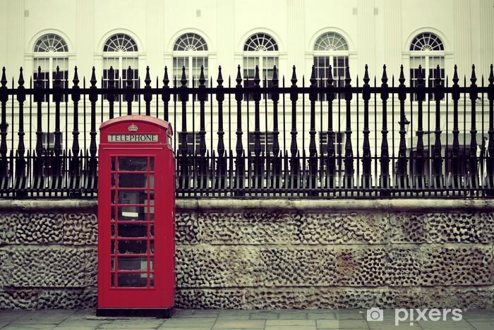 Lontoon puhelinlaatikko Vinyyli valokuvatapetti - Monumentit