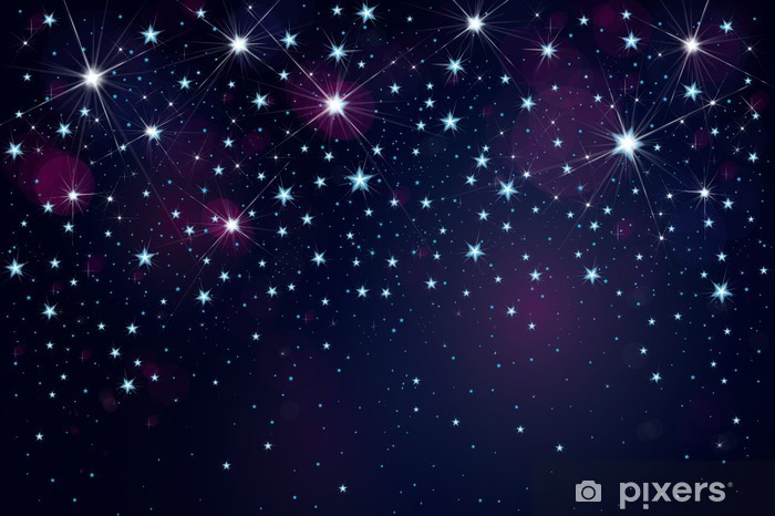 Vector Night Starry Sky Background Wall Mural Pixers