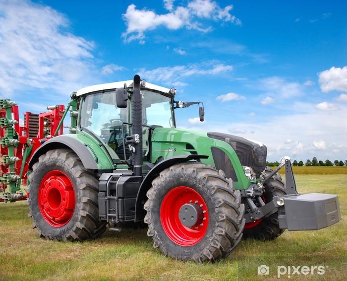 Green tractor Pixerstick Sticker - Themes