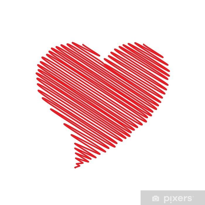 Fototapeta winylowa Logo wektor nabazgrał serca, abstrakcyjny kształt - Znaki i symbole