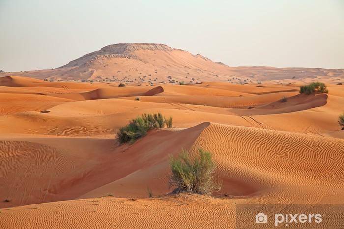 Fototapeta winylowa Czerwony piasek pustyni - Pustynia