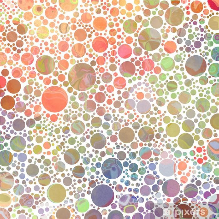 Sticker Points abstraits (couleur chaude) • Pixers® - Nous vivons ...