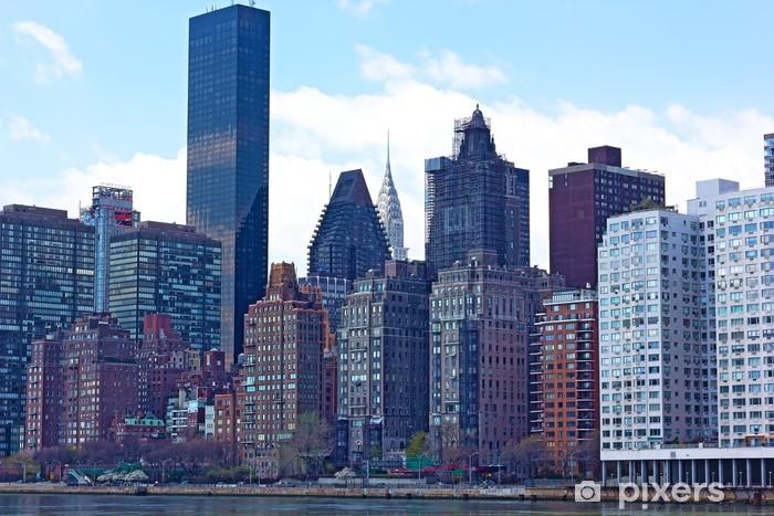Vinylová fototapeta Pohled na Manhattan z Rooseveltův ostrov, New York - Vinylová fototapeta
