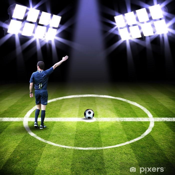 Naklejka Pixerstick Sędzia odgwizduje stadion - Sporty drużynowe