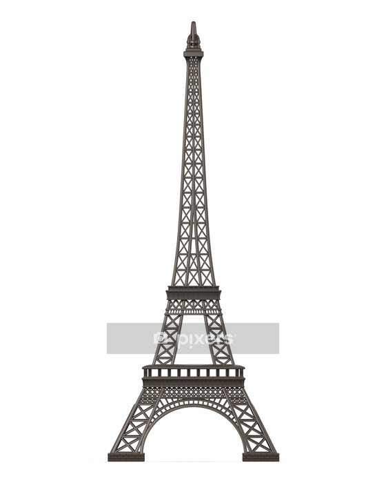 Eiffel Tower Isolated Wall Decal - European Cities