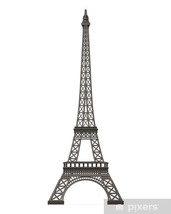 Fototapeta winylowa Wieża Eiffla wyizolowanych - Miasta europejskie