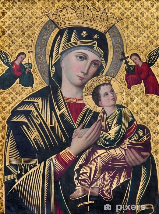 Pixerstick Sticker Brugge - Het icoon van Madonna in st. Giles kerk - Thema's