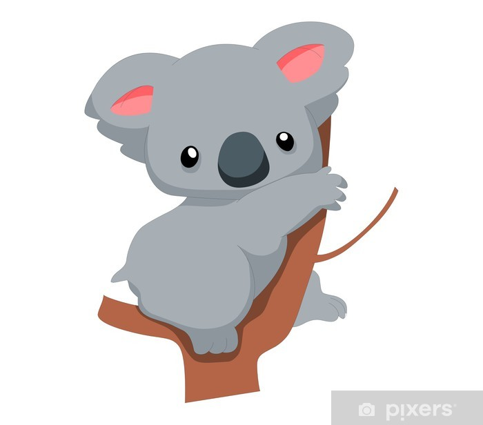 Fototapeta winylowa Cartoon cute koala - Ptaki