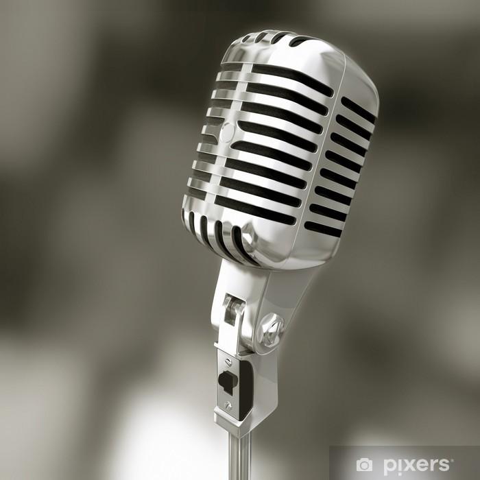 Naklejka Pixerstick Stary mikrofon - Rozrywka