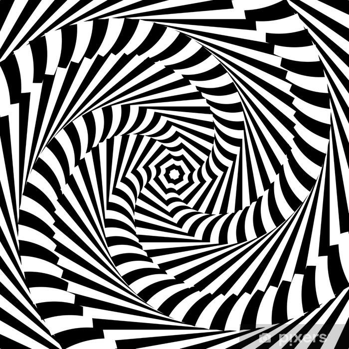 Sticker Pixerstick Mouvement conception monochrome de tourbillon sur fond d'illusion - Thèmes