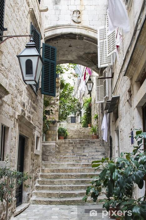 Papier peint vinyle Escaliers dans la vieille ville de Dubrovnik - Thèmes