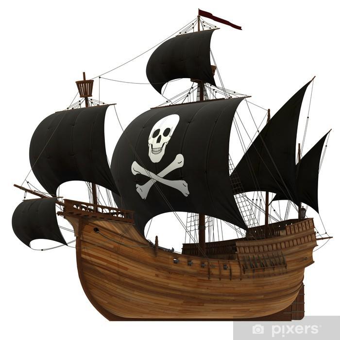 Fotomural Estándar Barco pirata - Barcos