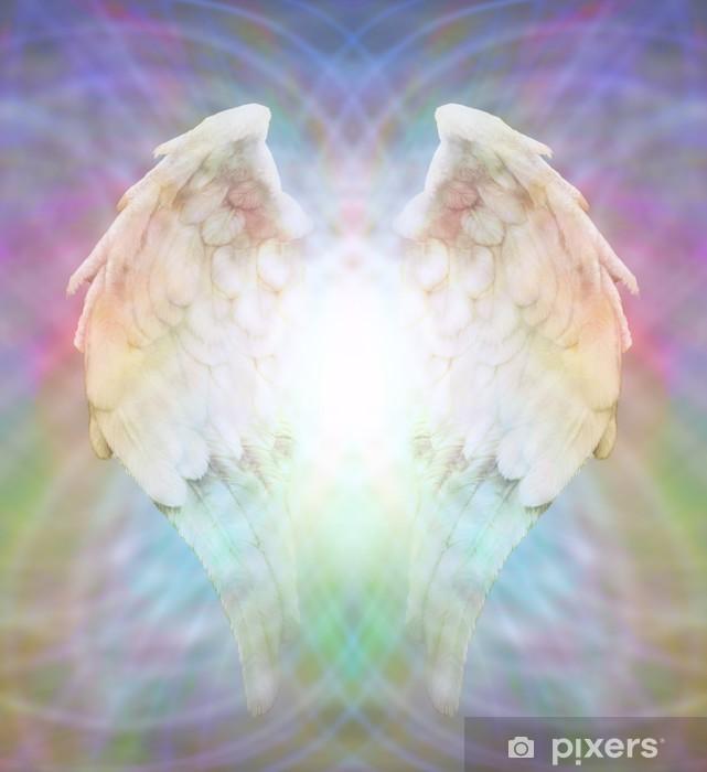 Pixerstick Sticker Angel Wings op veelkleurige matrix web - Thema's