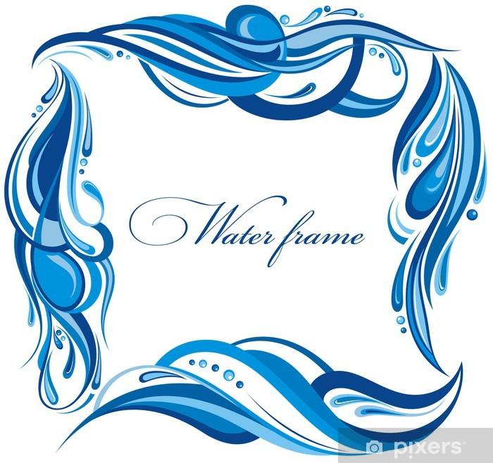 Papier peint vinyle Cadre de l'eau décoratif - Signes et symboles