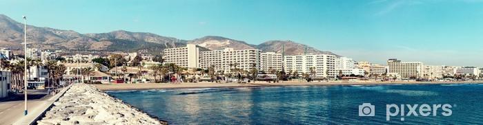 Nálepka Pixerstick Benalmadena pobřeží. Malaga, Španělsko - Evropa