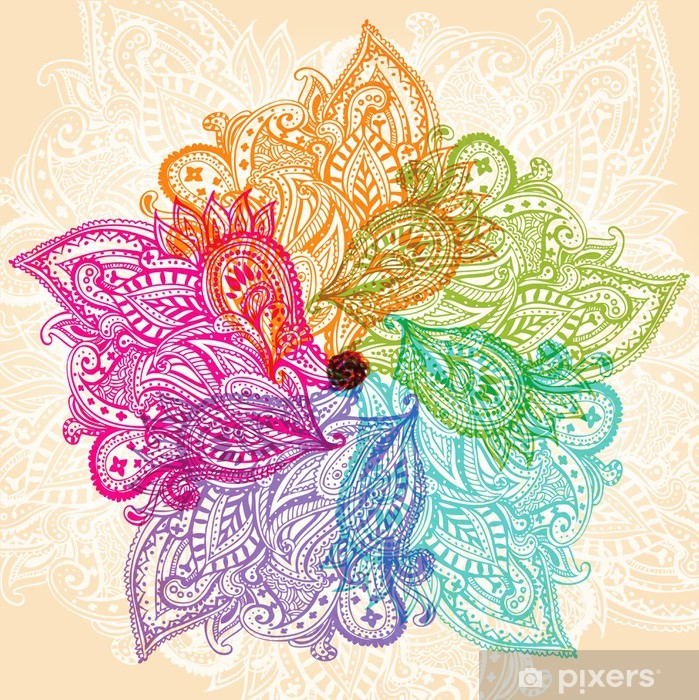 Adesivo Pixerstick Simbolo Mandala - Temi
