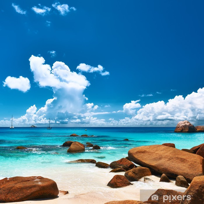 Seychelles Beach: Beautiful Beach At Seychelles Poster • Pixers®