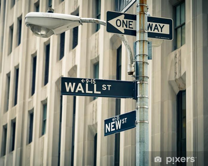 Carta da Parati in Vinile Wall Street Sign, New York - Città Americane