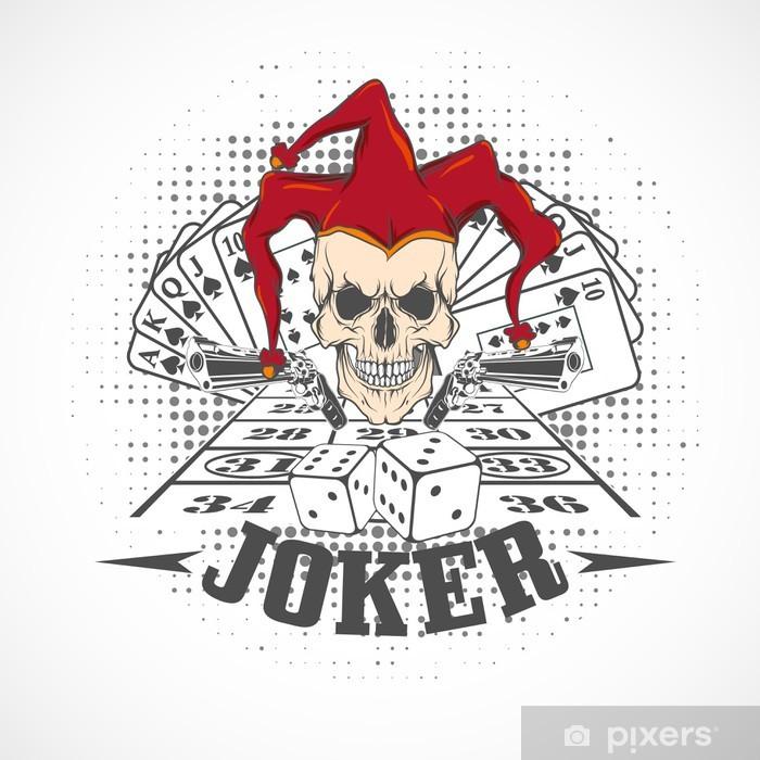 Joker Card Emblem Casino Wall Mural Pixers 174 We Live