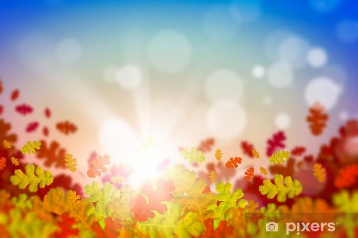 Vinilo Pixerstick Hojas de otoño. - Temas