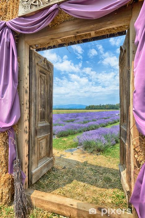 Fototapeta winylowa Lawendy w Prowansji, hdr - Europa