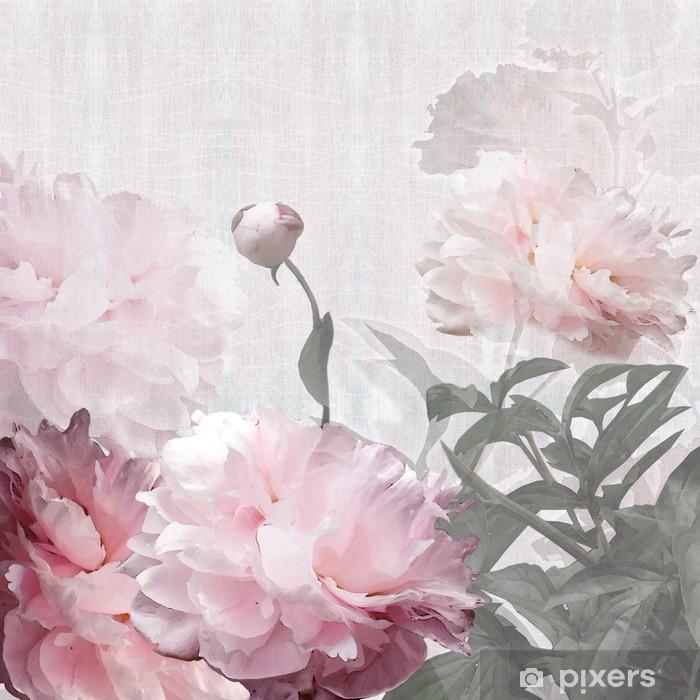 Pixerstick Sticker Floral design pioenen - Stijlen