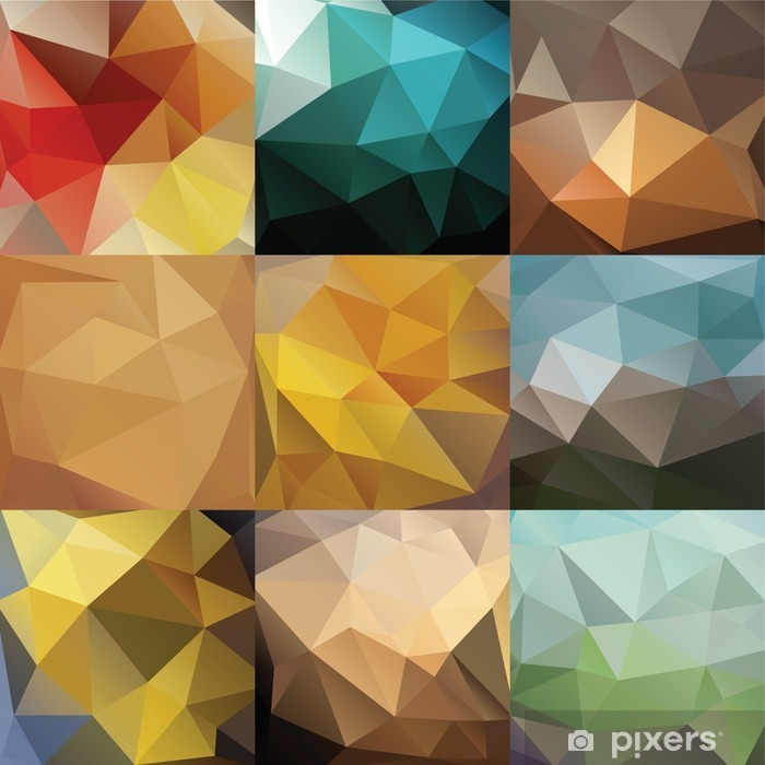 Big triangle background set Poster - Graphic Resources