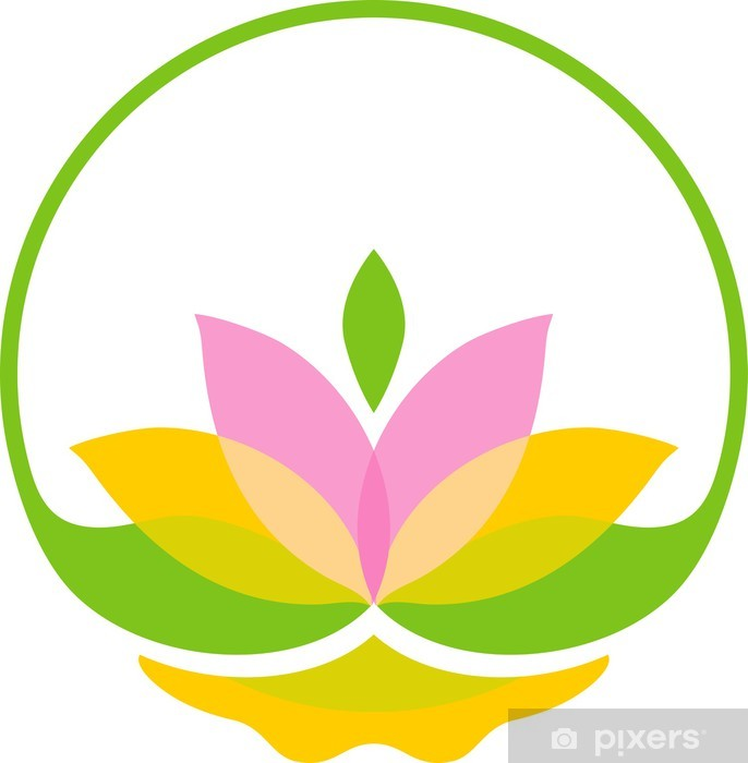 Kirkas lotus-symboli Vinyyli valokuvatapetti - Kukat