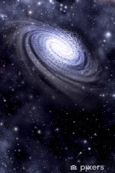 Pixerstick Sticker Galaxy en Starfield achtergrond - Thema's