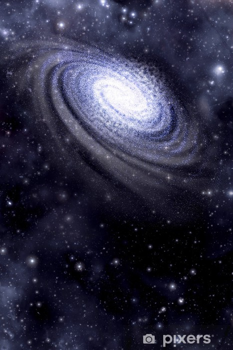 Sticker Pixerstick Galaxy et arrière-plan Starfield - Thèmes