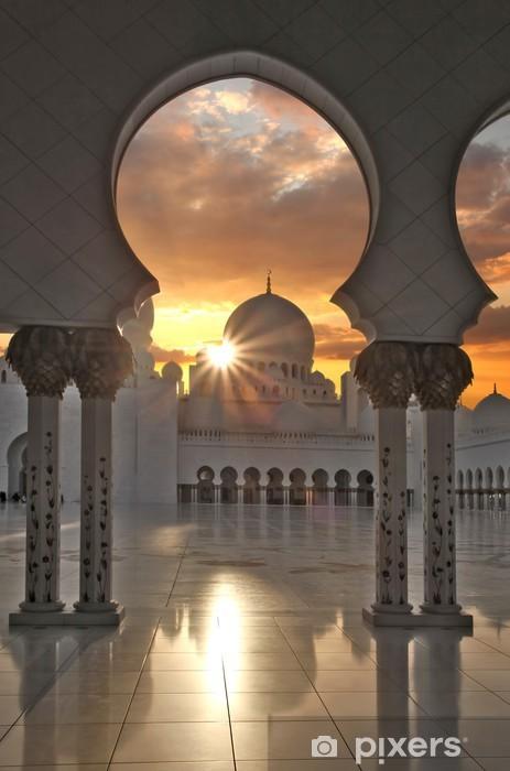 Sheikh Zayed mosque in Abu Dhabi, United Arab Emirates Vinyl Wall Mural - Themes
