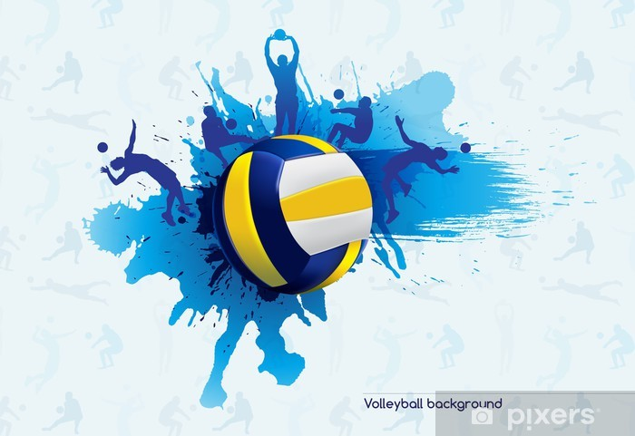 Volleyball abstract Pixerstick Sticker - Volleyball