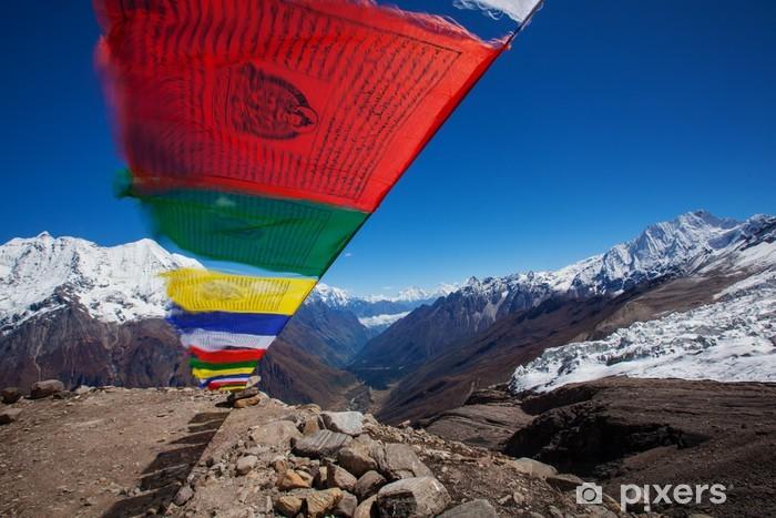Fototapeta winylowa Buddyjskie flagi modlitewne - Tematy
