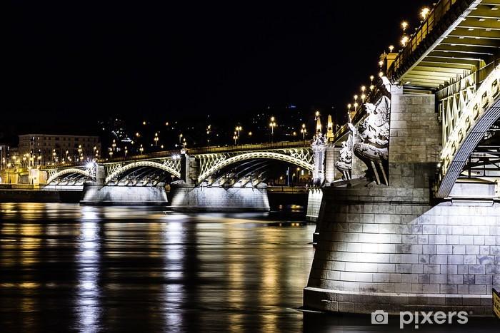 ponte budapest Pixerstick Sticker - Europe
