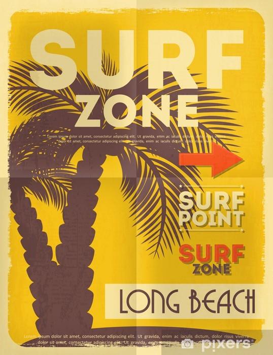 Vinyl Fotobehang Surfen poster - Vakantie